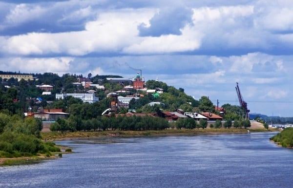 Фото вид на реку Кама