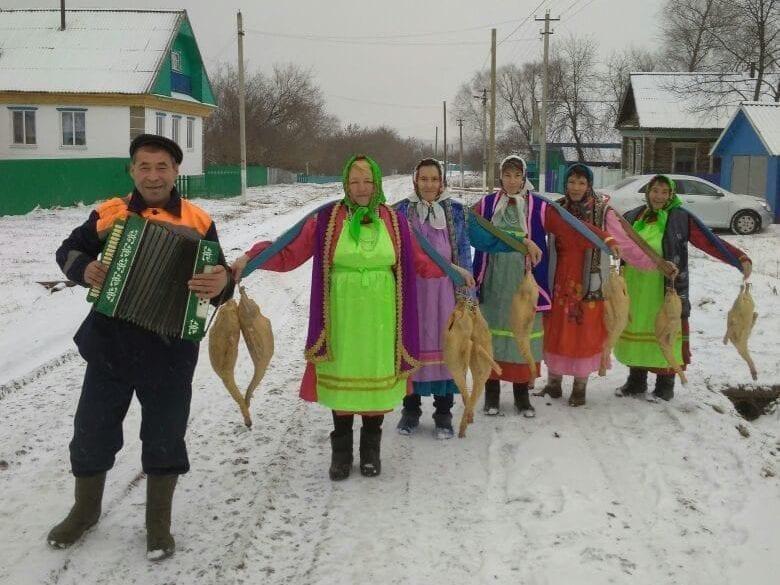 Фото закамских удмуртов зимой в своей деревне