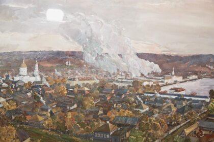 картина Шумилова Ижевский завод